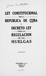 Ley constitucional de la Republica de Cuba