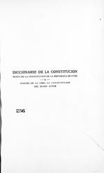 Diccionario de la Constitucion