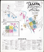 Tampa, including West Tampa and Ybor City, Hillsborough County, Florida, 1895