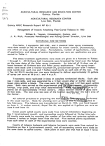 Management of insects attacking flue-cured tobacco in 1983