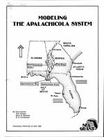 Modeling the Apalachicola system