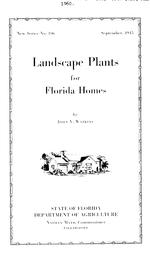 Landscape plants for Florida homes