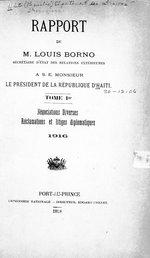 Rapport de M. Louis Borno