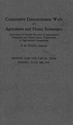 Cooperative demonstration work in agriculture and home economics