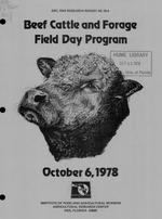 Cattle and forage field day. 1978