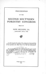 Proceedings of the Southern Forestry Congress