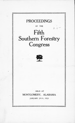 Proceedings of the Southern Forestry Congress.