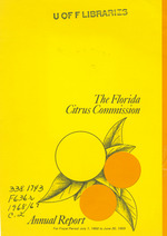 Annual report - Florida Citrus Commission