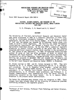 History, accomplishments and programs of the Agricultural Research and Education Center, Dover, Florida, 1925-1987