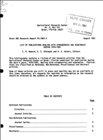 List of publications dealing with strawberries and vegetables during 1976-1981