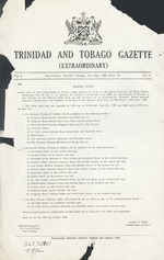 Trinidad and Tobago gazette.
