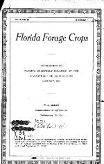 Florida quarterly bulletin of the Department of Agriculture. Vol. 33. No. 1.