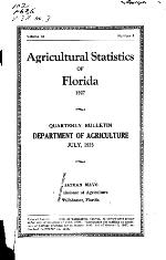 Florida quarterly bulletin of the Department of Agriculture. Vol. 38. No. 3.