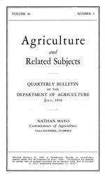 Quarterly bulletin of the Department of Agriculture