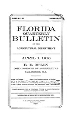 Florida quarterly bulletin of the Agricultural Department