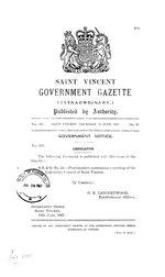 Saint Vincent government gazette