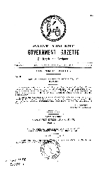 Saint Vincent government gazette