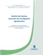 Análisis del sistema mexicano de investigación agropecuaria
