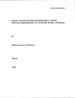 Tidal flood water withdrawal, with special reference to Jupiter Inlet, Florida