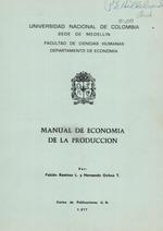 Manual de economía de la producción