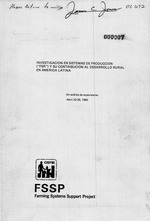 """Investigación en sistemas de producción (""""FSR"""") y su contribución al desarrollo rural en América Latina"""