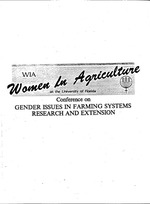 Institutional and policy parameters affecting gender issues in Farming Systems Research in Tanzania