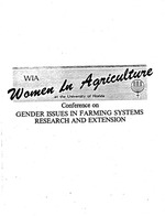 South Pacific women in the field : their roles as agricultural extension professionals