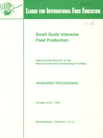 Small scale intensive food production