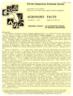 Agronomy facts