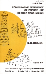 Comparative efficiency of energy use in crop production