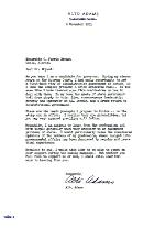 Letter to C. Farris Bryant from Alto Adams.  ( 1951-12-06 )