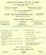 Advertising rate card for Panama City News-Herald