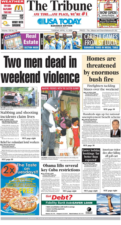 The Tribune - Page 1