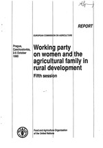 Report of the Fifth Session of the Working Party on Women and the Agricultural Family in Rural Development