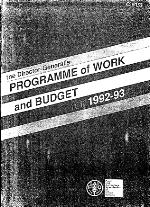 The Director-General's program of work and budget for 1992-93