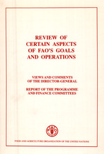 Review of certain aspects of FAO's goals and operations