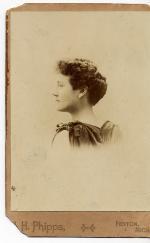 Portrait of Marjorie Kinnan Rawlings in her late teens, profile head shot, looking left.