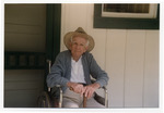 Norton Baskin at age 92 visiting the Rawlings house in Cross Creek