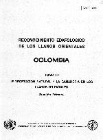 Reconocimiento edafológico de los Llanos Orientales, Colombia