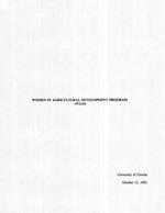 Women in Agricultural Develpment Program (WIAD) program description