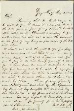 Wright, C.S. to I.S. Clendenin – May 4, 1854 – Yazoo City