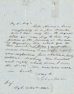 John Adair to J.P. Anderson – 1863
