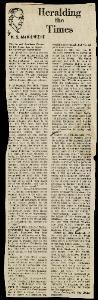 Newspaper Clipping Re: J. Patton Anderson – Aug. 15, 1864
