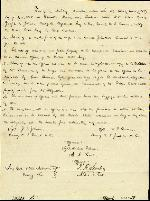 Agreement: General Joseph E. Johnston and Major William T. Sherman – Apr. 26, 1865 – Military Convention. (Manuscript).