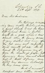 Boggs, William E. to Etta A. Anderson – Sep. 26, 1872 – Columbia, SC