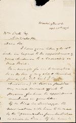 Finley, J.J. to William Scott – Apr. 25, 1876 – Washington D.C.