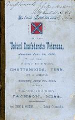 Revised Constitution of United Confederate Veterans 1891 (Gift of J.J. Dickison)