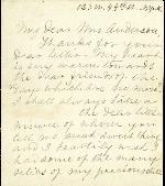 Davis, Varina Jefferson to Etta A. Anderson – 1906 – New York, NY