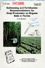 Soil-testing and fertilization recommendations for crop production on organic soils in Florida