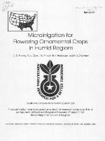 Microirrigation for flowering ornamental crops in humid regions